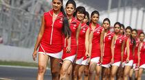 Grid Girls - GP Indien 2014