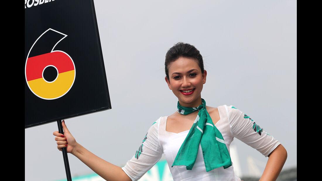 Grid Girls - GP Malaysia 2014 - Formel 2
