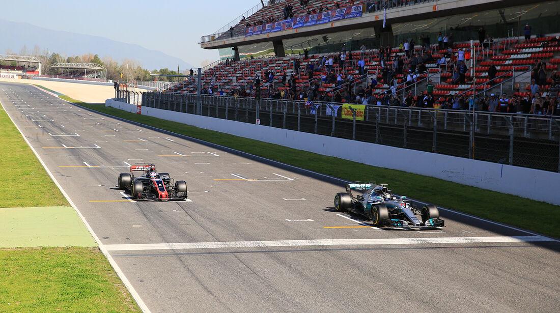 Grosjean & Bottas - Formel 1 - Test - Barcelona - 10. März 2017