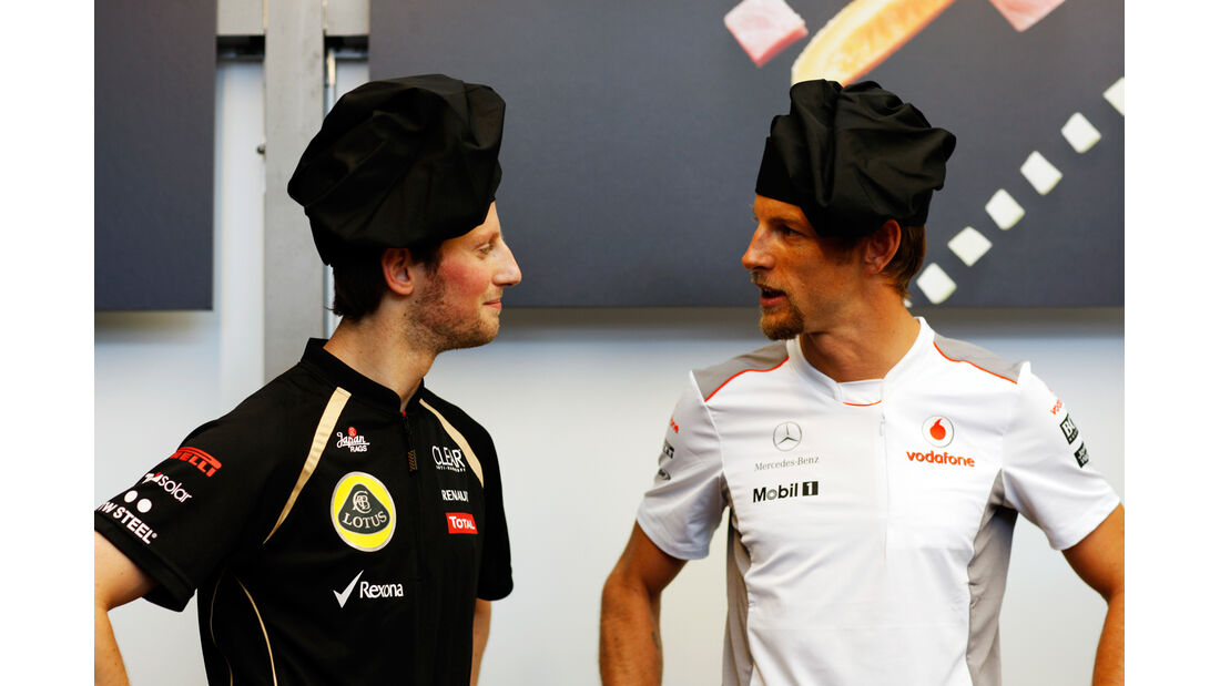 Grosjean & Button F1 Fun Pics 2012