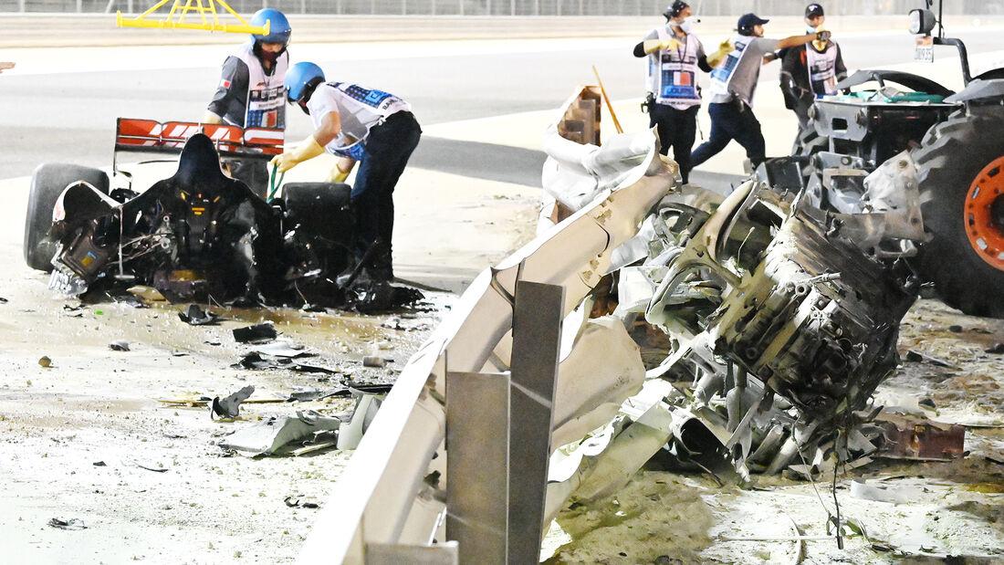 Grosjean-Crash - GP Bahrain 2020