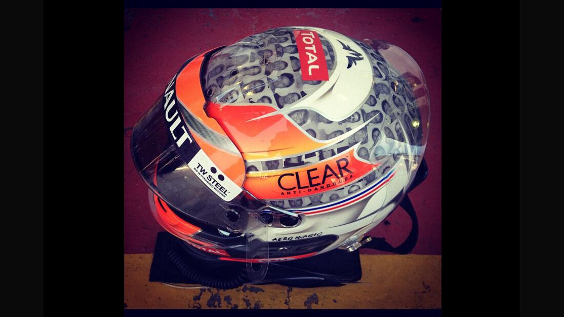 Grosjean-Helm - Formel 1 - GP Brasilien - Sao Paulo - 23. November 2012