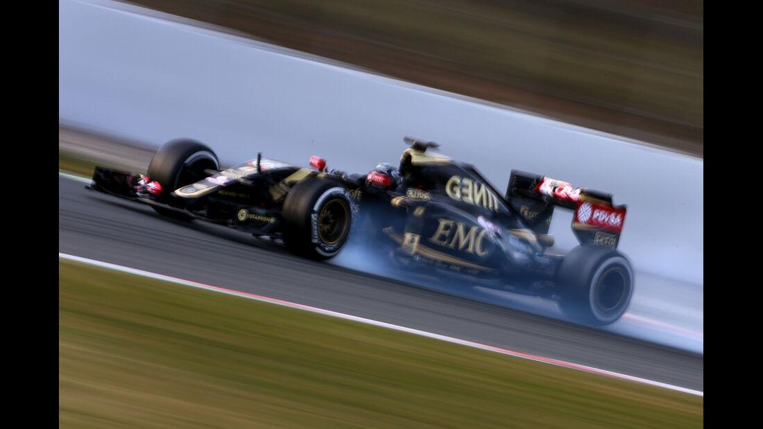 Grosjean - Lotus - Barcelona Test 2 - 2015