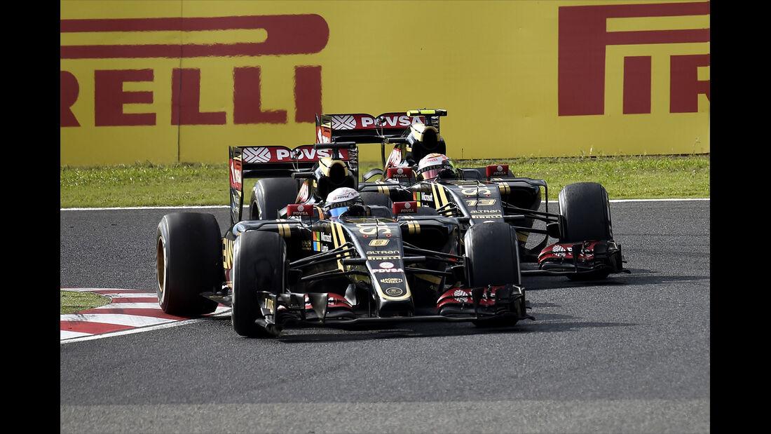 Grosjean & Maldonado - GP Japan 2015