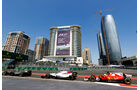 Grosjean - Massa - Vettel - Formel 1 - GP Aseerbaidschan 2017 - Training - Freitag - 23.6.2017