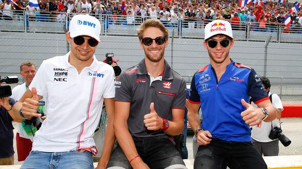 Grosjean, Ocon & Gasly - GP Frankreich 2018