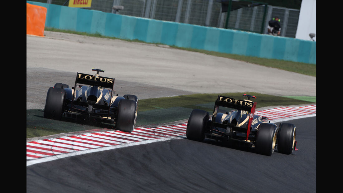 Grosjean & Räikkönen GP Ungarn 2012