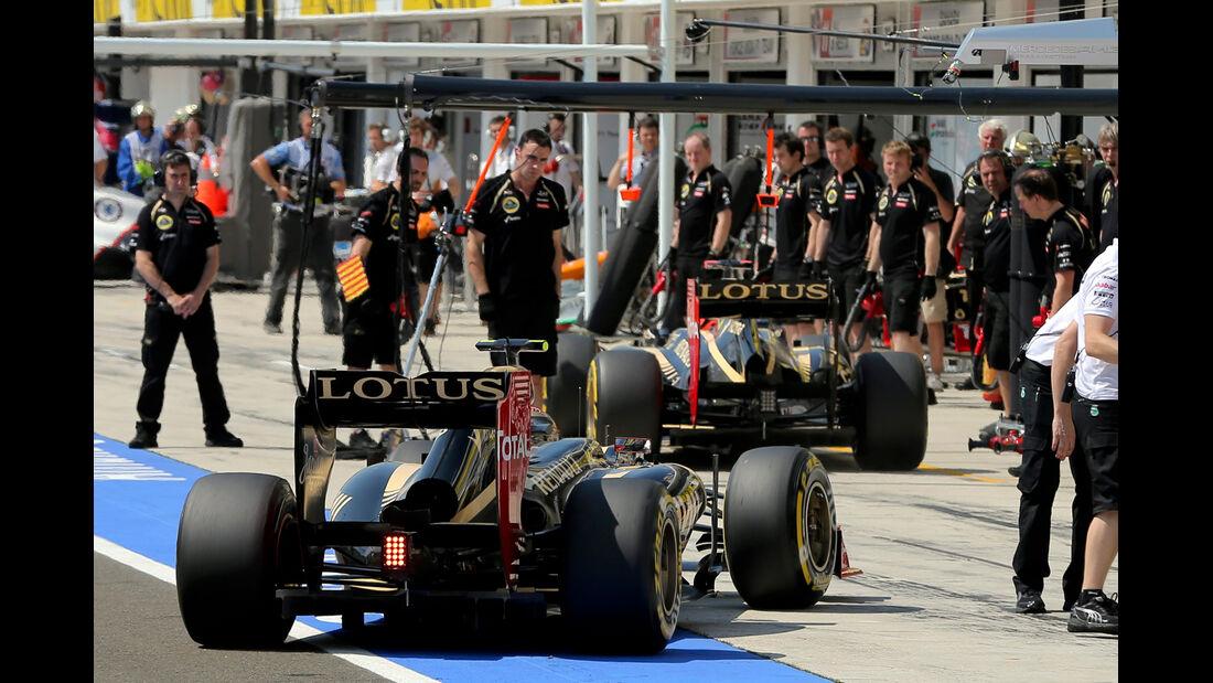 Grosjean - Räikkönen - Lotus - Formel 1 - GP Ungarn - Budapest - 28. Juli 2012