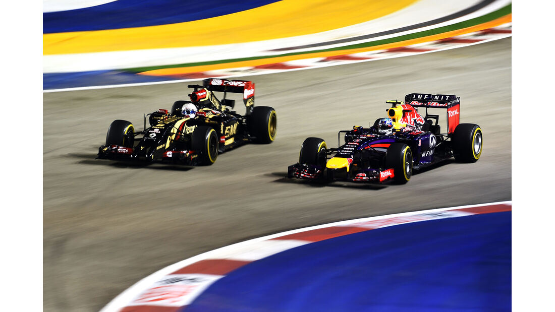 Grosjean & Vettel - Formel 1 - GP Singapur - 19. September 2014