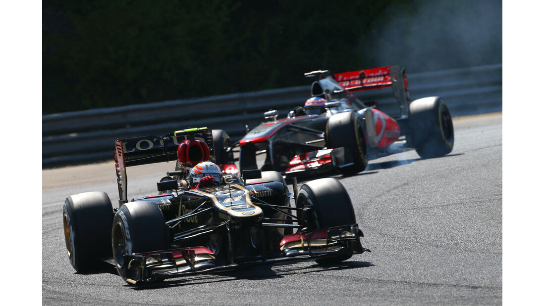 Grosjean vs. Button - Formel 1 - GP Ungarn 2013