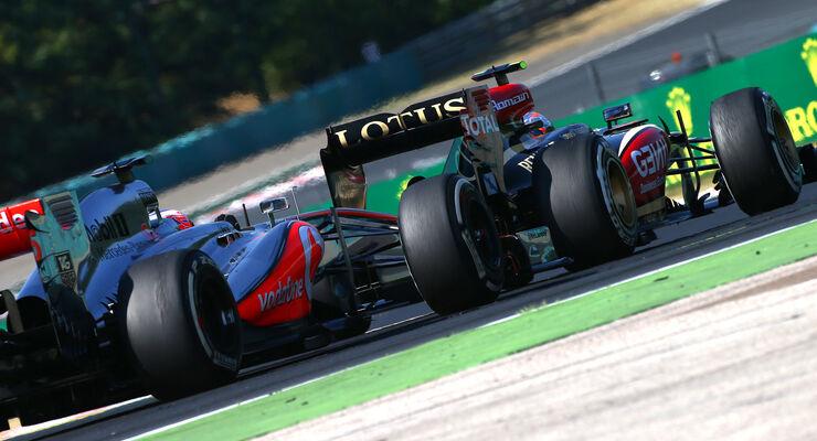 Grosjean vs. Button - GP Ungarn 2013