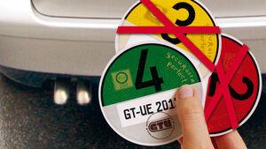 Grüne Plakette Feinstaub Partikelfilter
