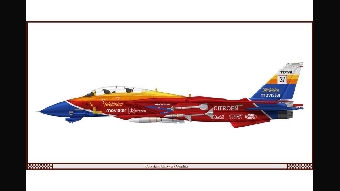 Grumman F-14A Tomcat - Citroen - Racing-Planes - 2015