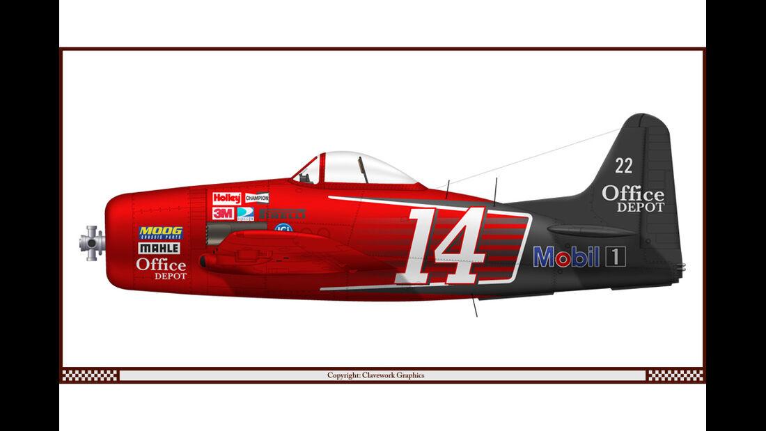 Grumman F8F-1 Bearcat - Nascar Tony Stewart (2011) - Racing-Planes - 2015