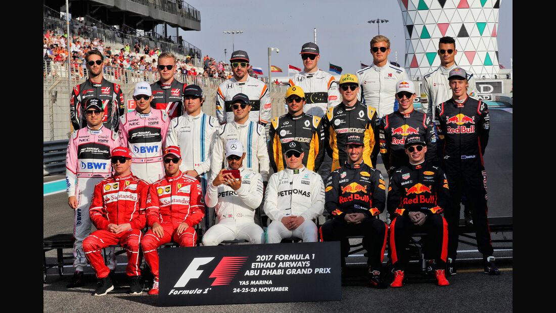Gruppenfoto - GP Abu Dhabi 2017