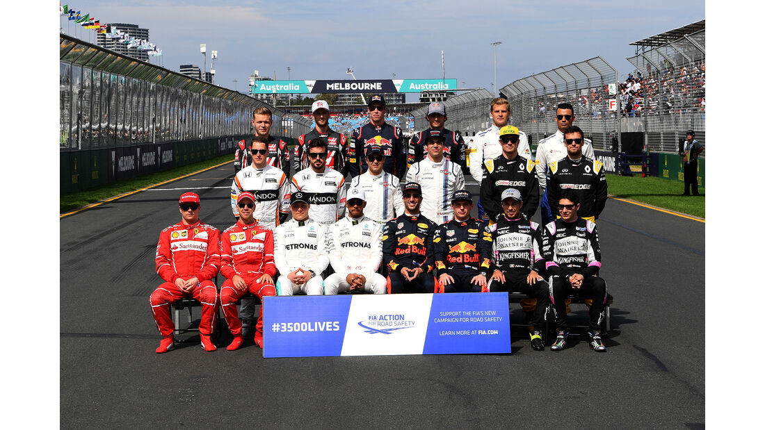 Gruppenfoto - GP Australien 2017