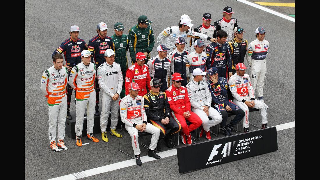 Gruppenfoto GP Brasilien 2012