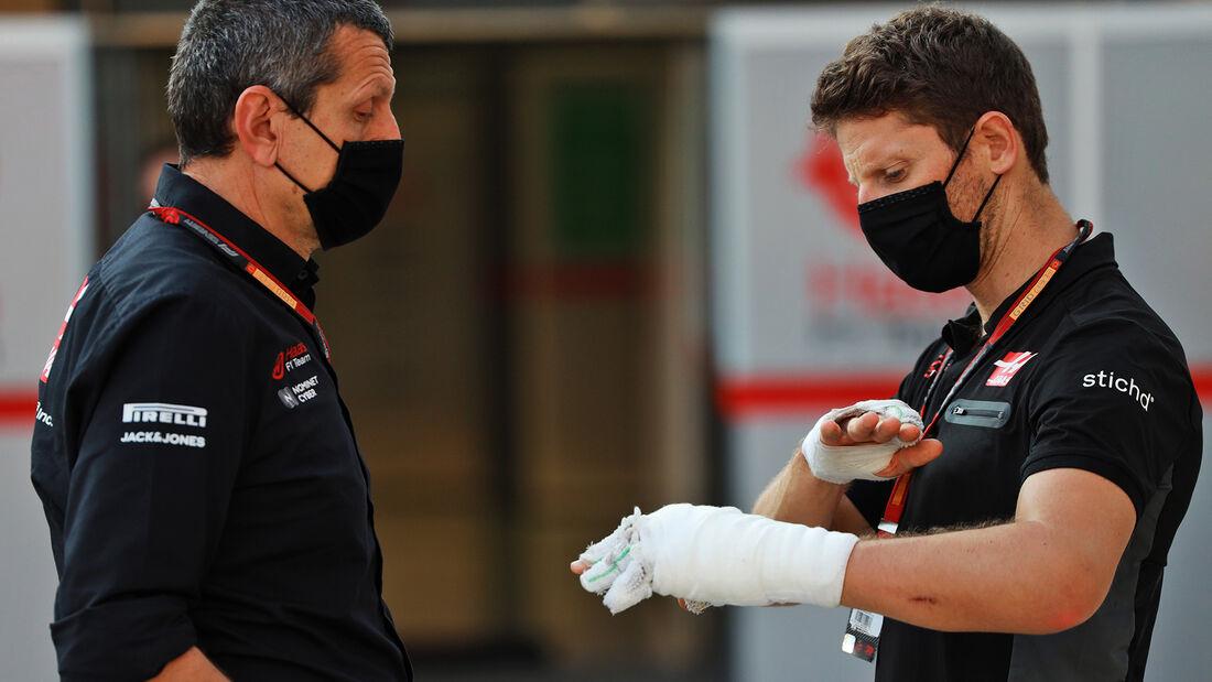 Guenther Steiner - Romain Grosjean - Haas - GP Sakhir 2020 - Bahrain