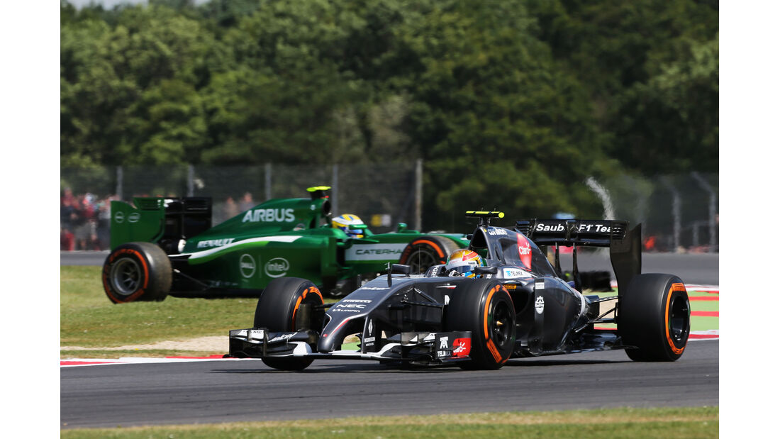 Gutierrez & Ericsson - Formel 1 - GP England  - Silverstone - 4. Juli 2014