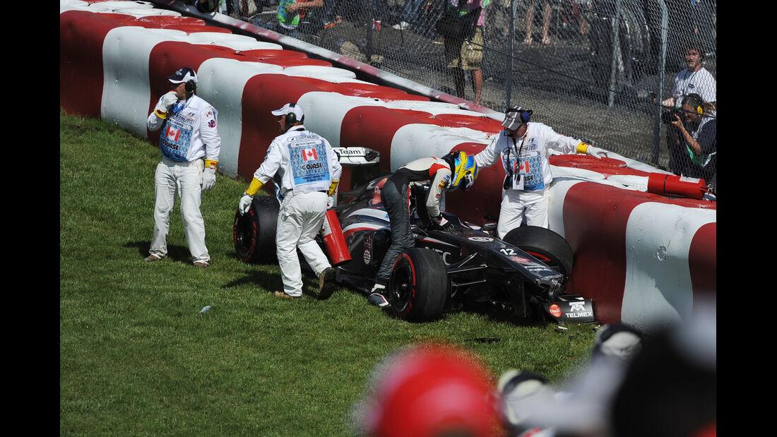 Gutierrez - GP Kanada - Crash - 2013