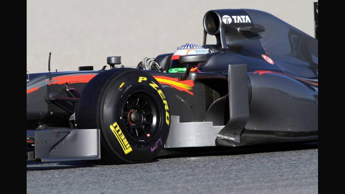 HRT Hispania Karthikeyan Formel 1 Test Barcelona 2011