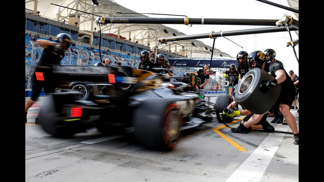 Haas - Boxenstopp - Formel 1 - 2019
