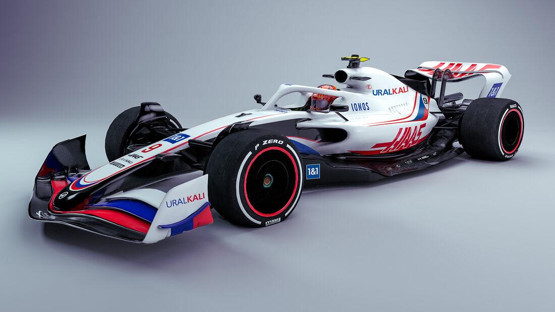 Haas - F1-Auto 2022 - Team-Lackierung