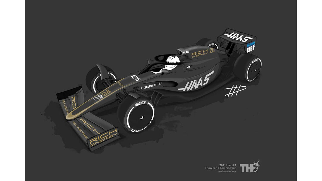 Haas - F1-Concept 2021 - Livery by Tim Holmes