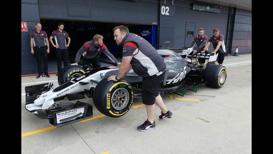 Haas F1 - Formel 1 - GP England - 13. Juli 2017
