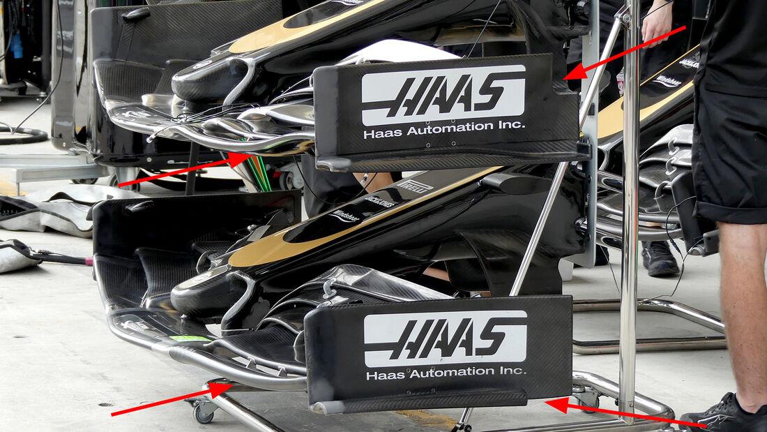 Haas - F1-Technik 2019 - Frontflügel