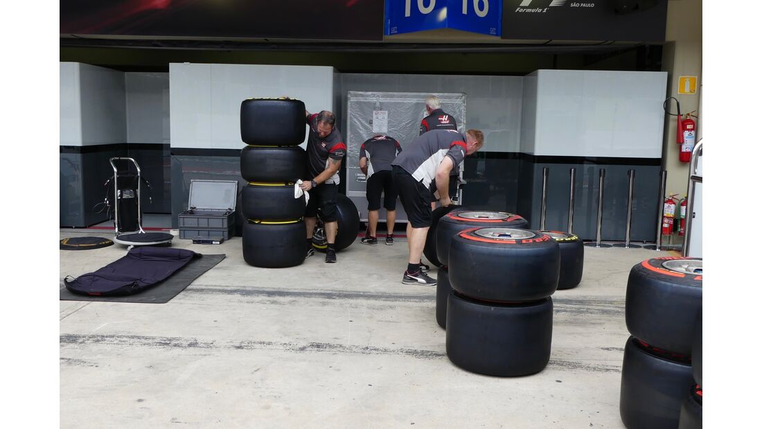 Haas - Formel 1 - GP Brasilien - 8. November 2017