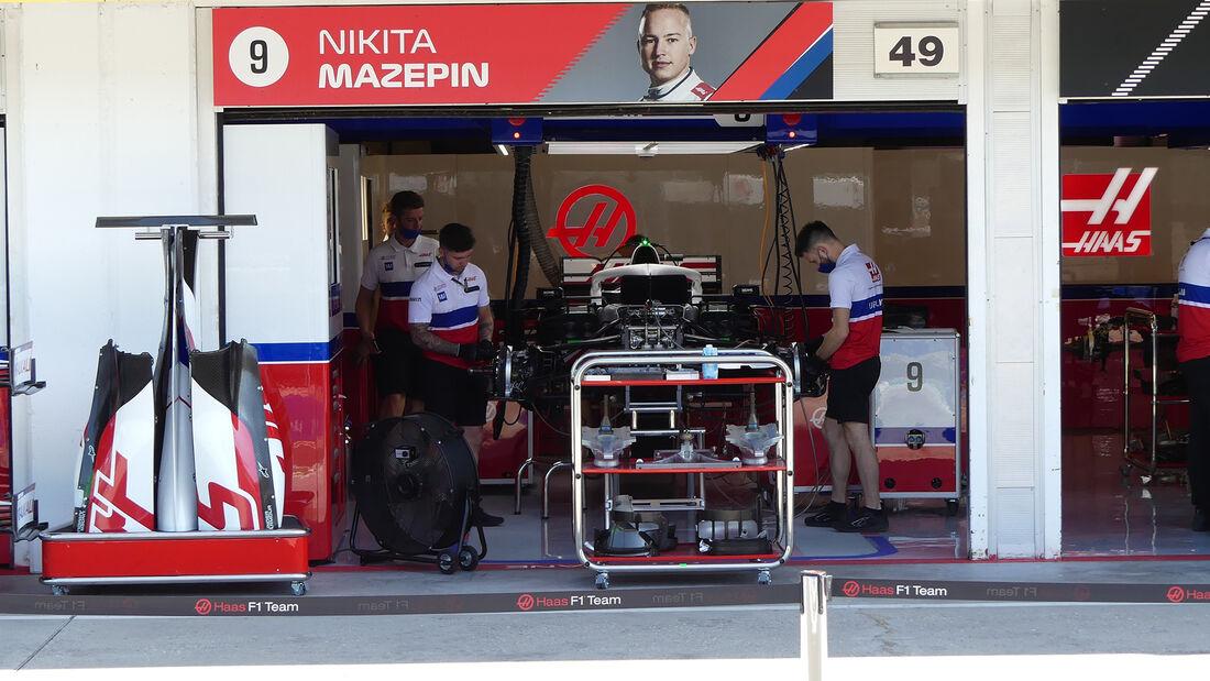 Haas - Formel 1 - GP Ungarn - Budapest - Donnerstag - 29. Juli 2021