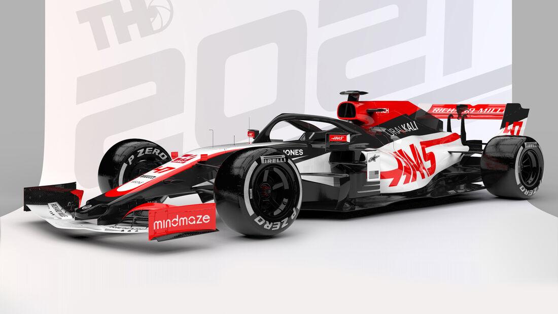 Haas - Formel 1 - Livery-Concept 2021 - Tim Holmes Design