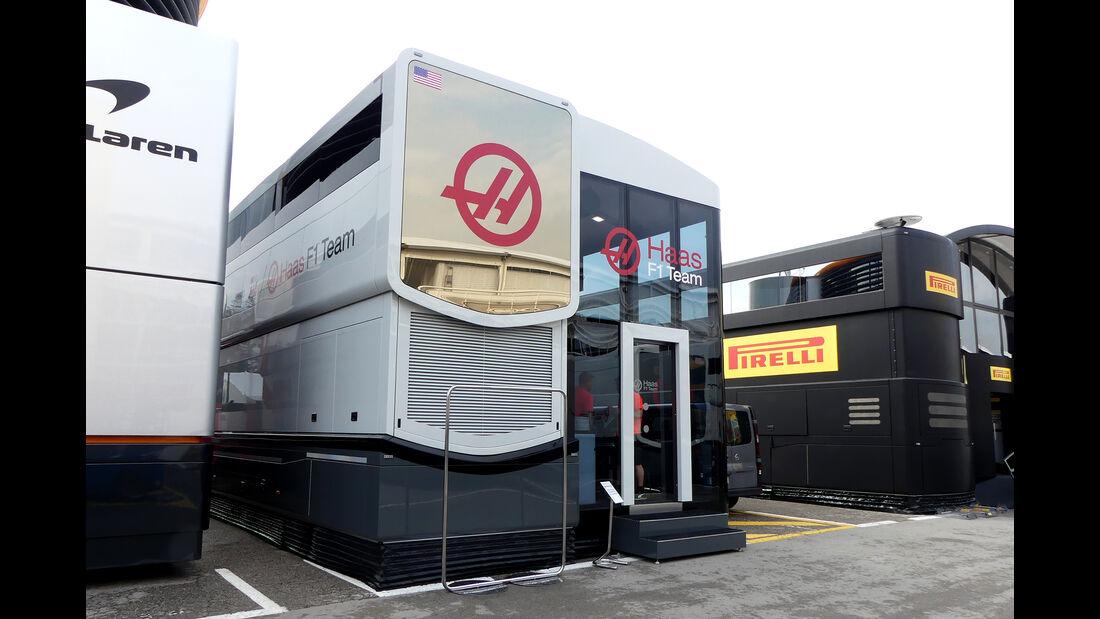 HaasF1 - F1-Motorhomes - GP Spanien 2018
