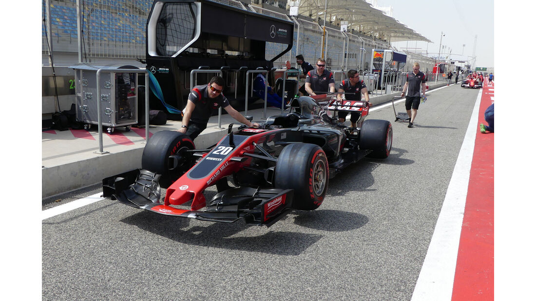 HaasF1 - Formel 1 - GP Bahrain - Sakhir - Donnerstag - 13.4.2017