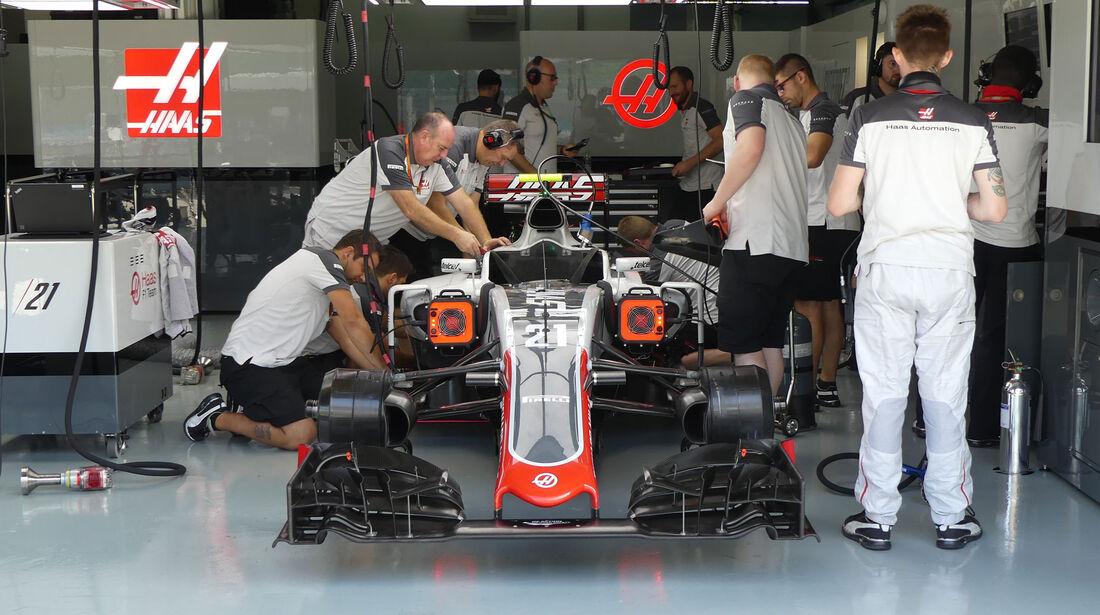 HaasF1 -  Formel 1 - GP Malaysia - Freitag - 30.9.2016