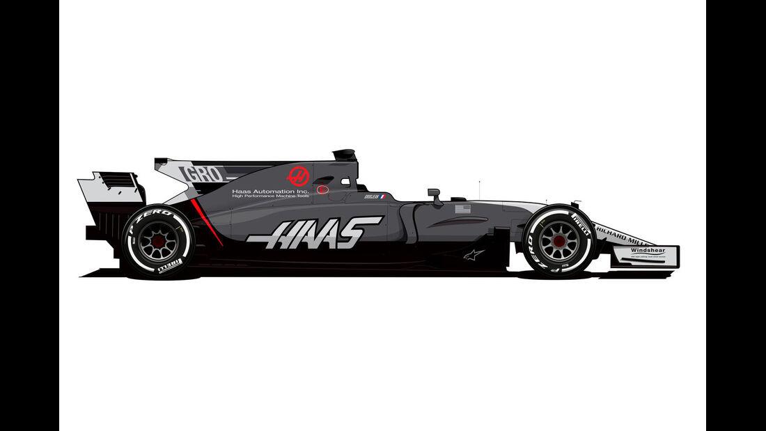 HaasF1 - Neue Lackierung - GP Monaco 2017