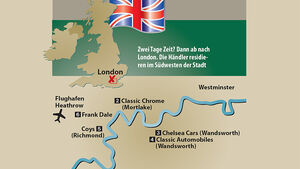 Händlerstandorte in London