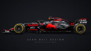 Halo - Formel 1 - Red Bull-Porsche 2018 - Sean Bull-Design