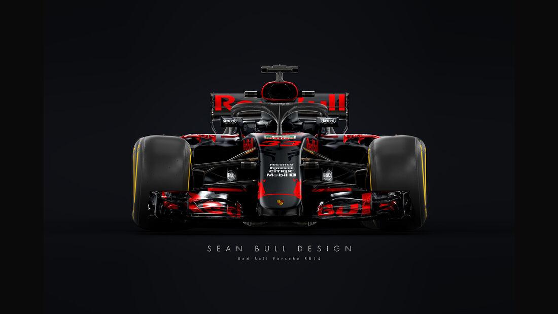 Halo - Formel 1 - Red Bull-Porsche 2018 - Sean Bull-Design
