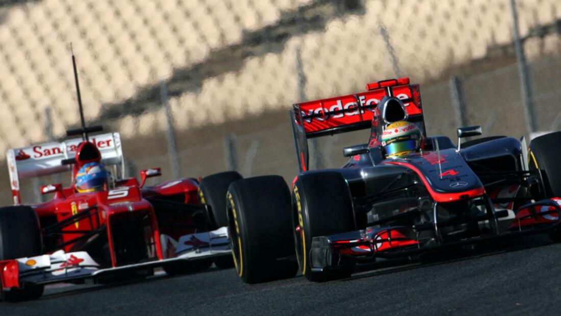 Hamilton Alonso Barcelona Test 2012