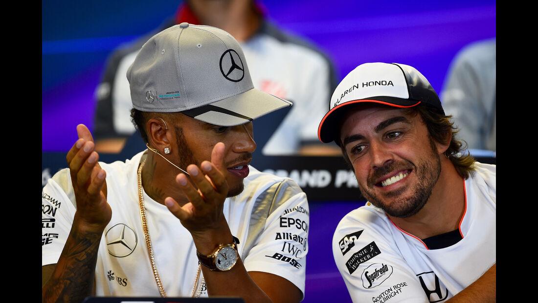 Hamilton & Alonso - Formel 1 - GP Belgien - Spa-Francorchamps - 25. August 2016