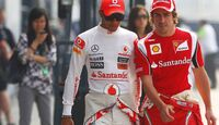 Hamilton Alonso Formel 1 GP China 2011