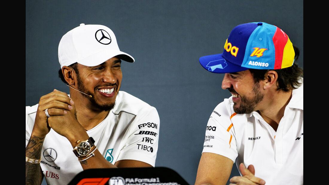 Hamilton & Alonso - GP Abu Dhabi - Formel 1 - 22. November 2018
