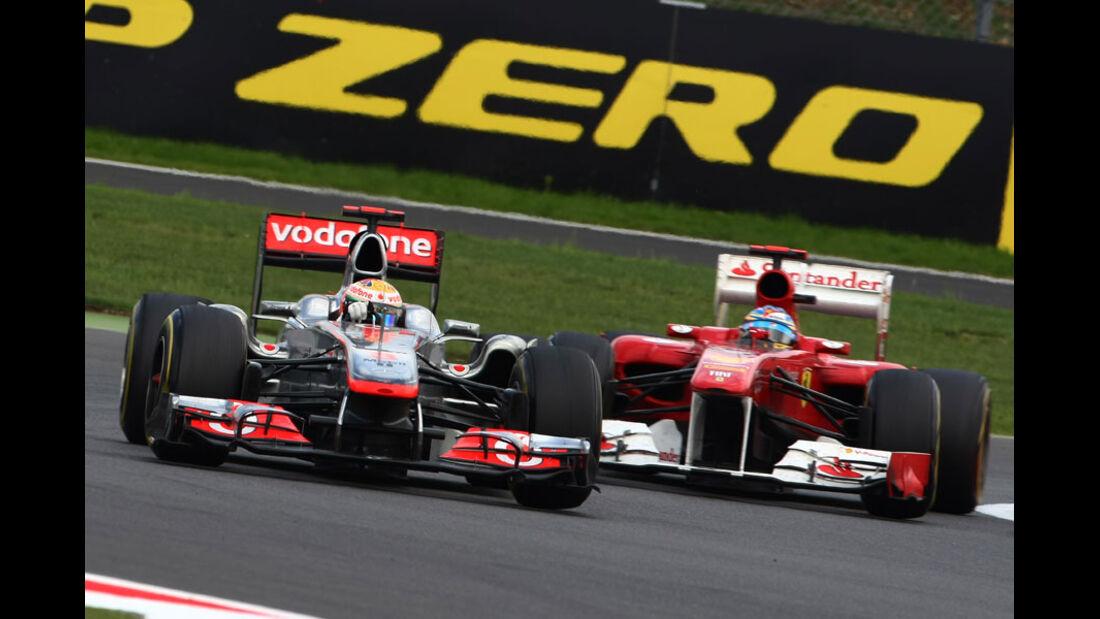 Hamilton Alonso GP England 2011 Rennen