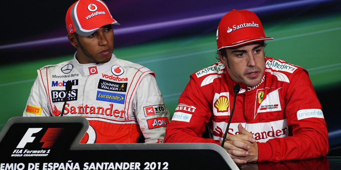 Hamilton & Alonso - GP Spanien - 12. Mai 2012