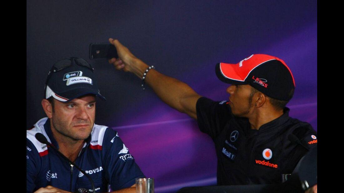 Hamilton Barrichello Formel 1 GP China 2011