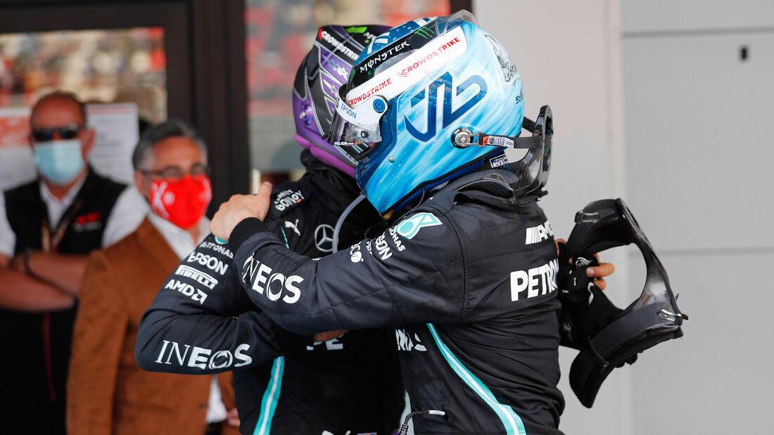 Hamilton - Bottas - Formel 1 - GP Spanien 2021 - Barcelona - Rennen