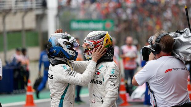 Hamilton - Bottas - GP Brasilien 2018 - Rennen