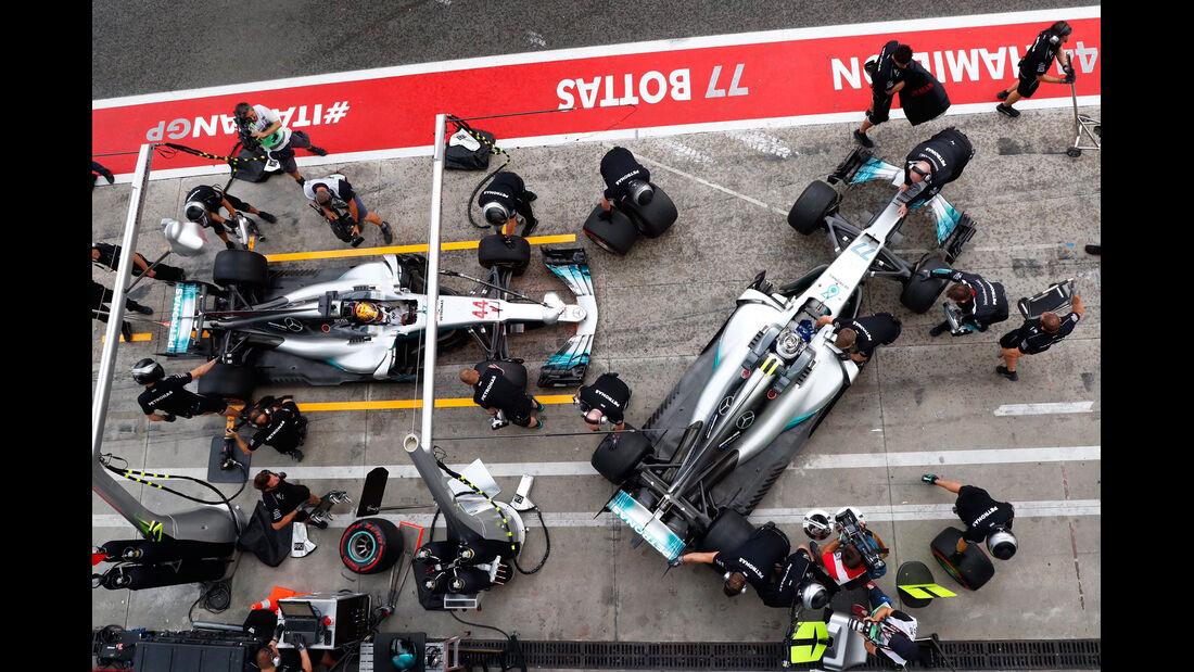 Hamilton & Bottas - Mercedes - Formel 1 - GP Italien - Monza - 1. September 2017